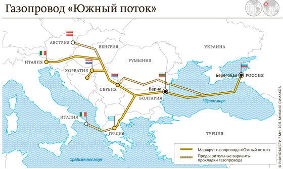 Газпром может реализовать проект Южный поток без иностранных инвестиций