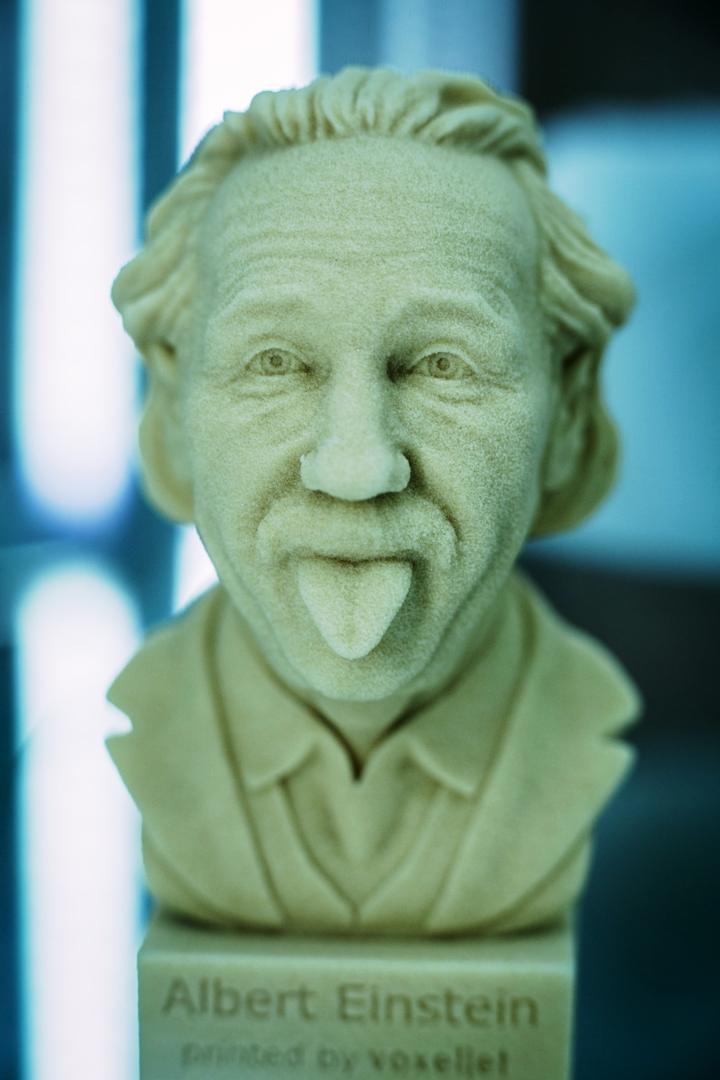 Росмолд и Роспласт 2017 - подводим итоги, фото: бюст Эйнштейна напечатанный на 3d-принтере