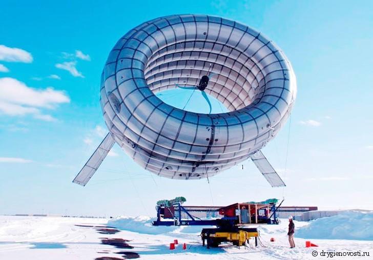 """Компания """"Altaeros"""" запустила на Аляске парящий ветрогенератор """"BAT"""""""