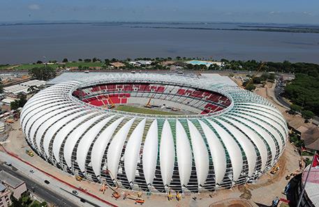 3M Dyneon покрытие, используемое на бразильском стадионе в Порту-Алегри