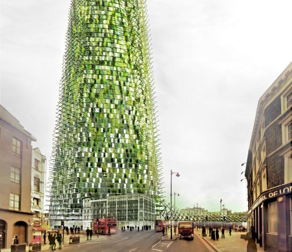 Экологичный небоскреб из переработанных отходов появится в Лондоне!