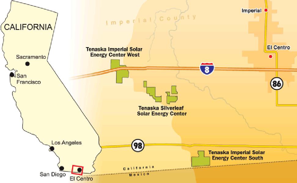 солнечные электростанции мира Imperial Solar Energy Center South