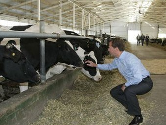 Президент Российской Федерации Дмитрий Медведев осмотрел крупнейшие животноводческие комплексы Саратова