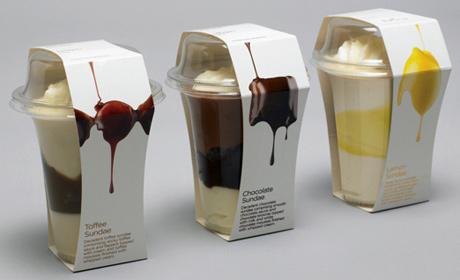 Британская компания Waitrose (лидер местного рынка) разработала съедобную упаковку для мороженого