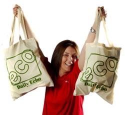 Жителей Рязани агитируют к использованию экологически чистых сумок