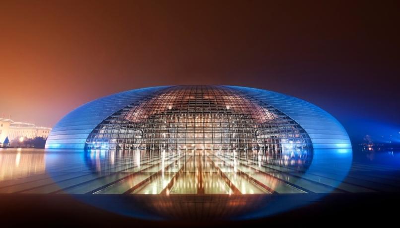 уникальные здания: Национальный оперный театр Китая (National Grand Theater) в Пекине