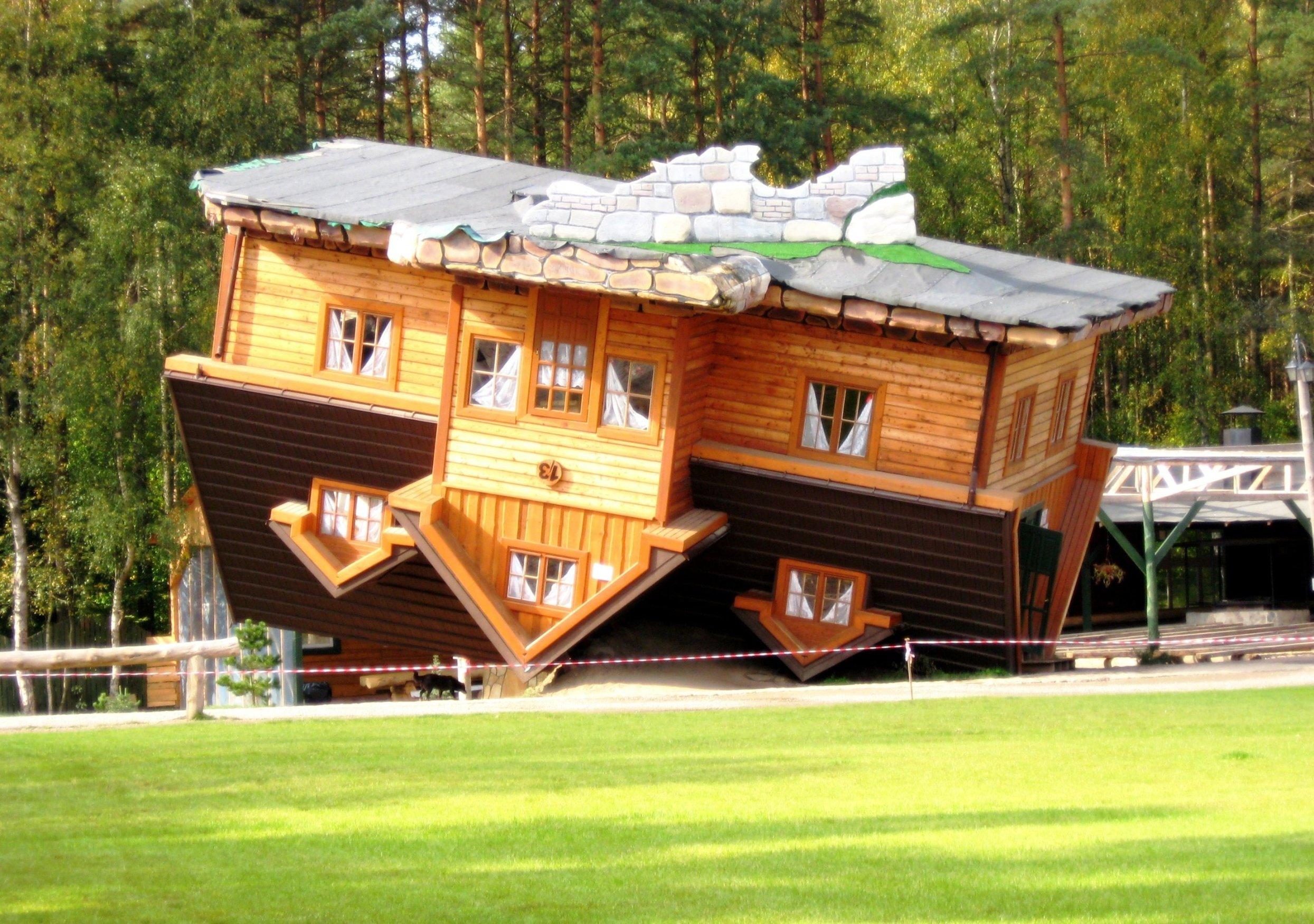 уникальные здания: Perevernuti domik
