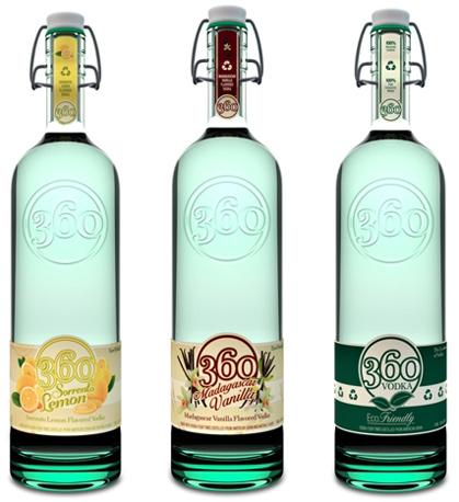 Earth Friendly - производитель водки приступила к выпуску нового, экологически чистого продукта в экологически чистой упаковке под брендом Vodka 360