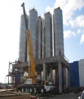 Монтаж колонн установки переработки ППФ Полиом – доставили третью!