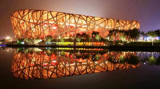самые стадионы Мира - Стадион Птичье гнездо в Пекине
