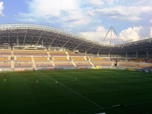 самые стадионы Мира - БАТЭ арена трибуны