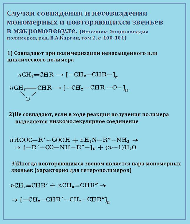 мономерные звенья
