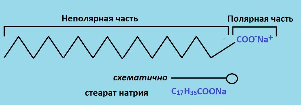 схема действия ПАВ