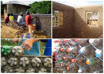 Строительство дома из пластиковых бутылок