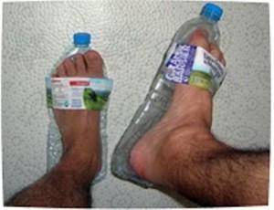 Тапочки из пластиковых бутылок