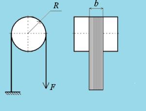 схема нагружения волокнистого слоя при определении его ширины