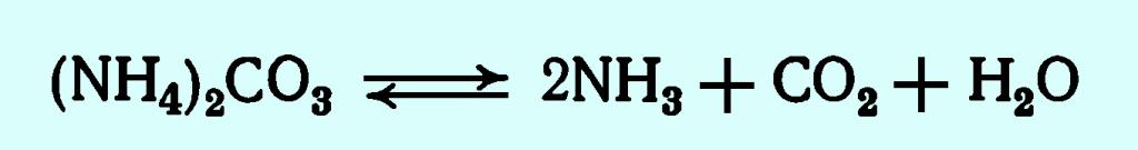 реакции разложения порофора карбоната аммония при производстве пенополитирола