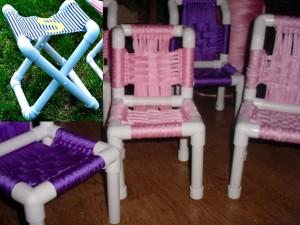 детские стульчики из ПВХ труб
