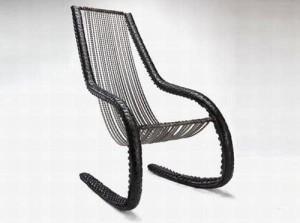 кресло-качалка из велосипедной покрышки
