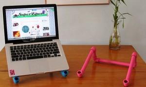 полипропиленовые трубы как подставка для ноутбука