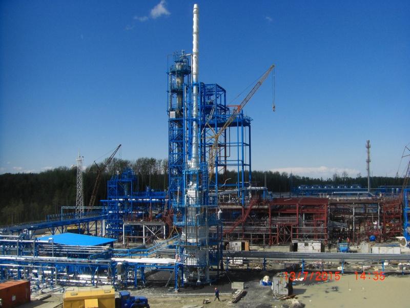 Южно-приобский ГПЗ в процессе строительства