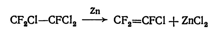 Получение трифторхлорэтилена