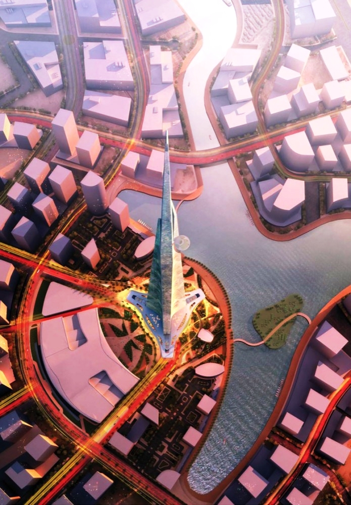 Jeddah Tower вид сверху