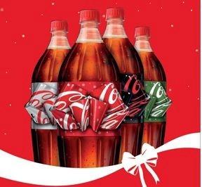 Новогодняя упаковка Coca-Cola