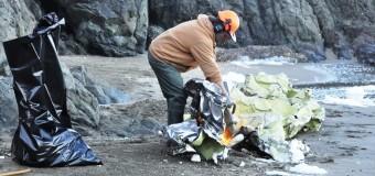 Побережье Сан-Франциско у моста Золотые Ворота завалило пластиковыми пакетами