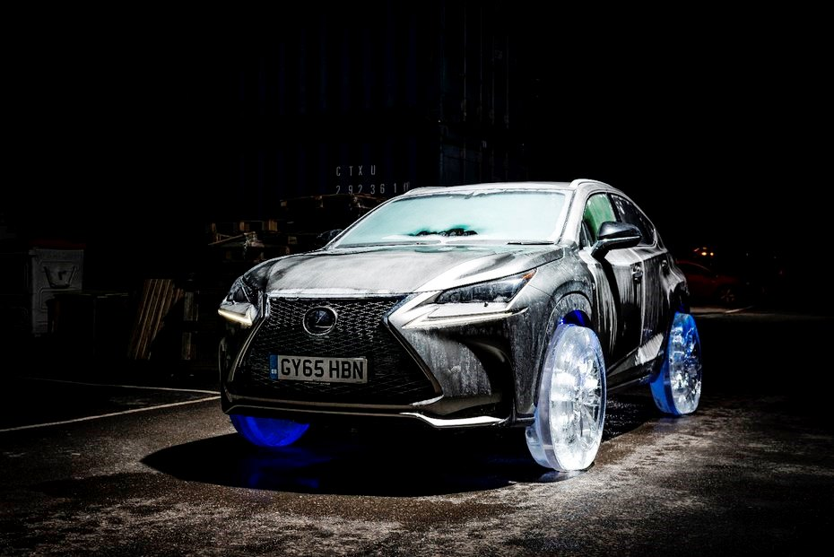 Ледяные колеса на Lexus NX (видео, фото)