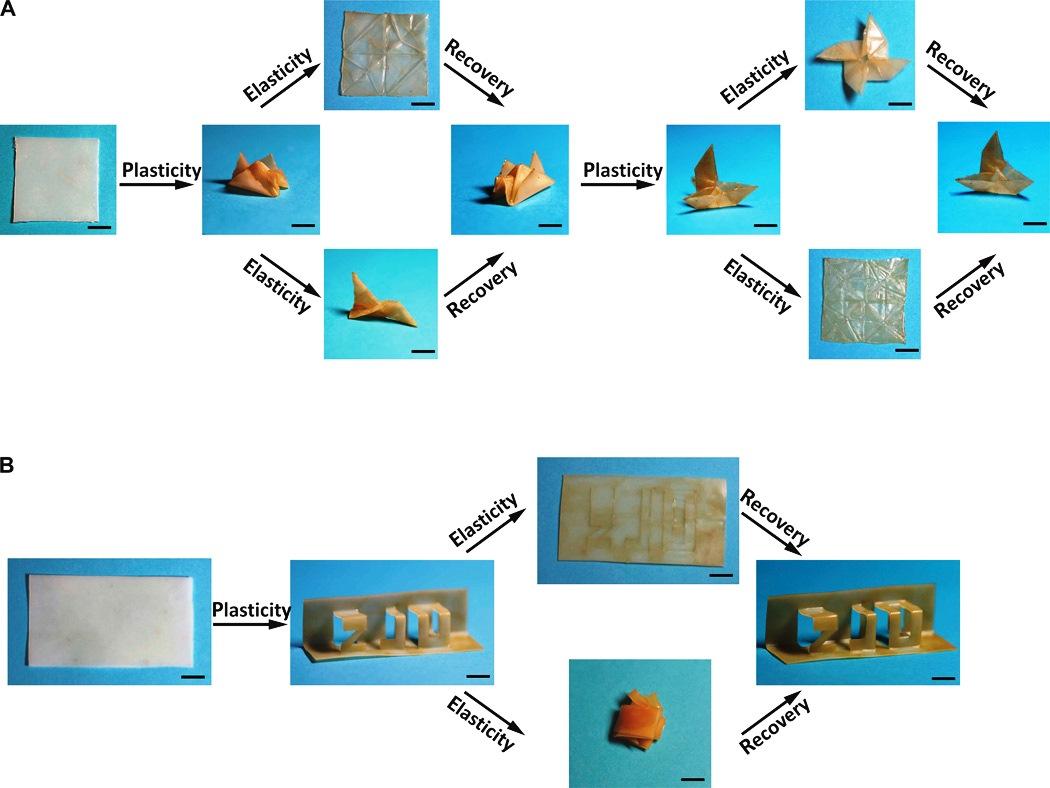Новый полимерный материал - превращения