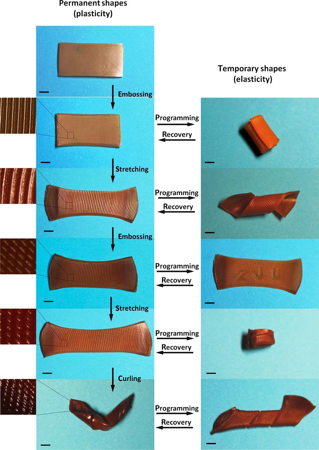 Новый полимерный материал - варианты формы и восстановление