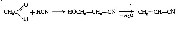 дегидратация гидроксипропионнитрила