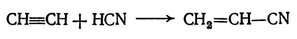 получение акрилонитрила из ацетилена и синильной кислоты