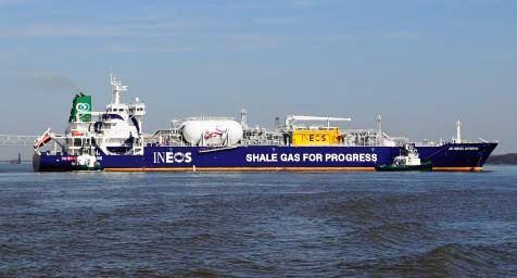 Ineos доставила первую партию сланцевого газа из США