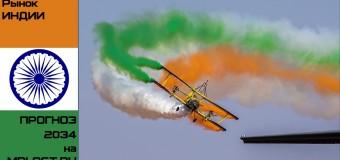 Индийский авиационный рынок выйдет на 3 место в мировом масштабе к 2034 году!