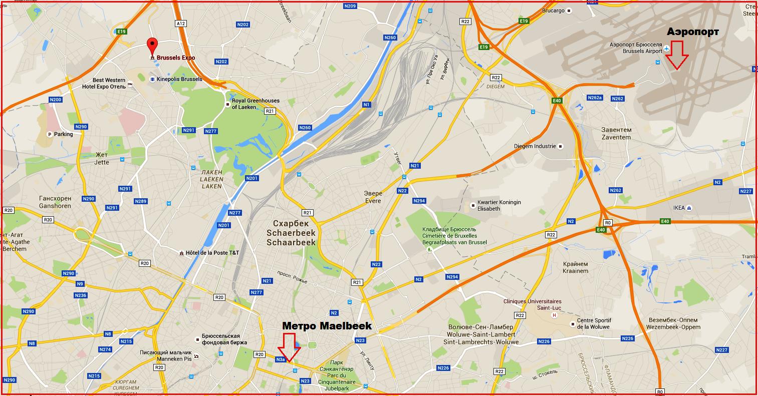 PRSE отменена из-за теракта. Карта взрывов в Брюсселе 22 марта. karta_teraktov_v_Brussele_22