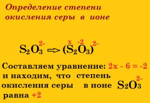 заряд и степень окисления в формуле иона