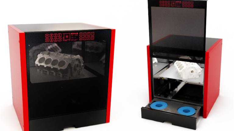Обзор 3D принтера M3 DUO - первый профессиональный принтер - в открытом и закрытом состоянии