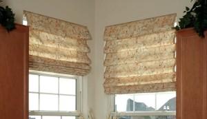 каскадные римские шторы