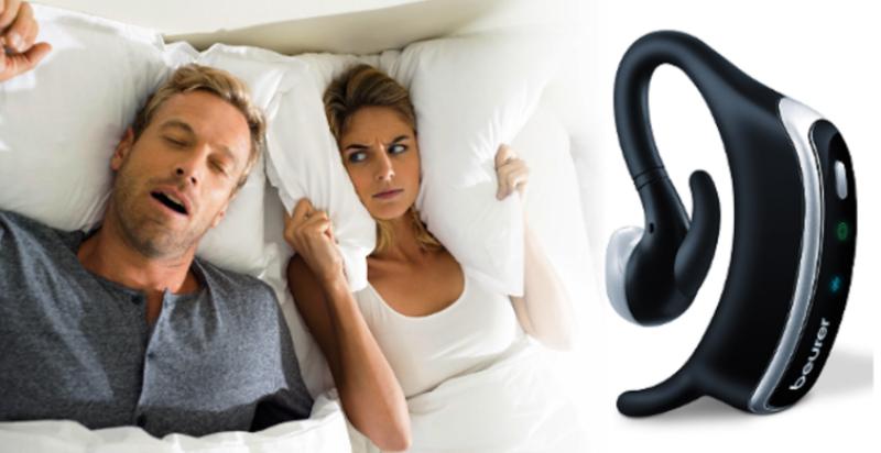 Beurer - Небольшой по размерам прибор перед сном закрепляется на ухе, при этом специальный датчик находится в ушной раковине. Во время сна он определяет звук храпа и посылает импульс в слуховой канал – мышцы шеи напрягаются, и храп прекращается. Мощность передатчика Beurer SL70 составляет всего 3,7 децибел, поэтому на качество сна он абсолютно не влияет.