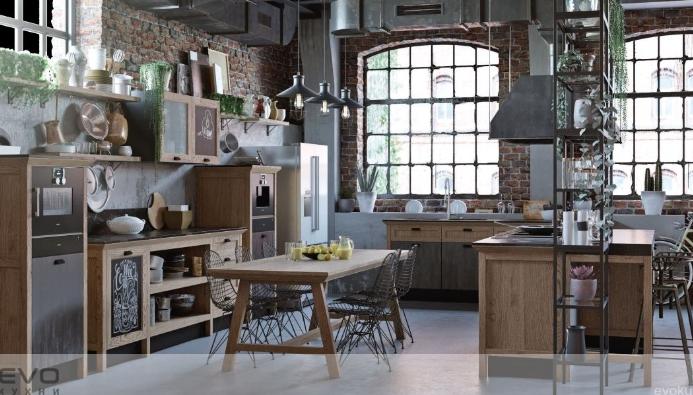 кухня по индивидуальному проекту эклектика