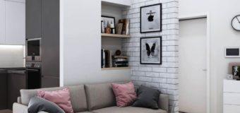 Дизайн большого и малого на примере однокомнатной квартиры