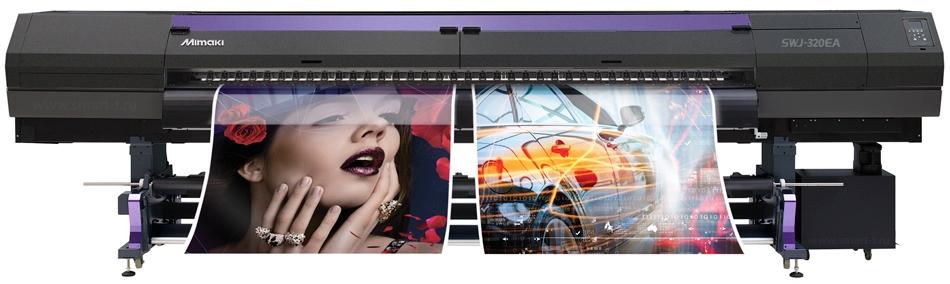 Широкоформатная печать, широкоформатный принтер Mimaki SWJ-320EA