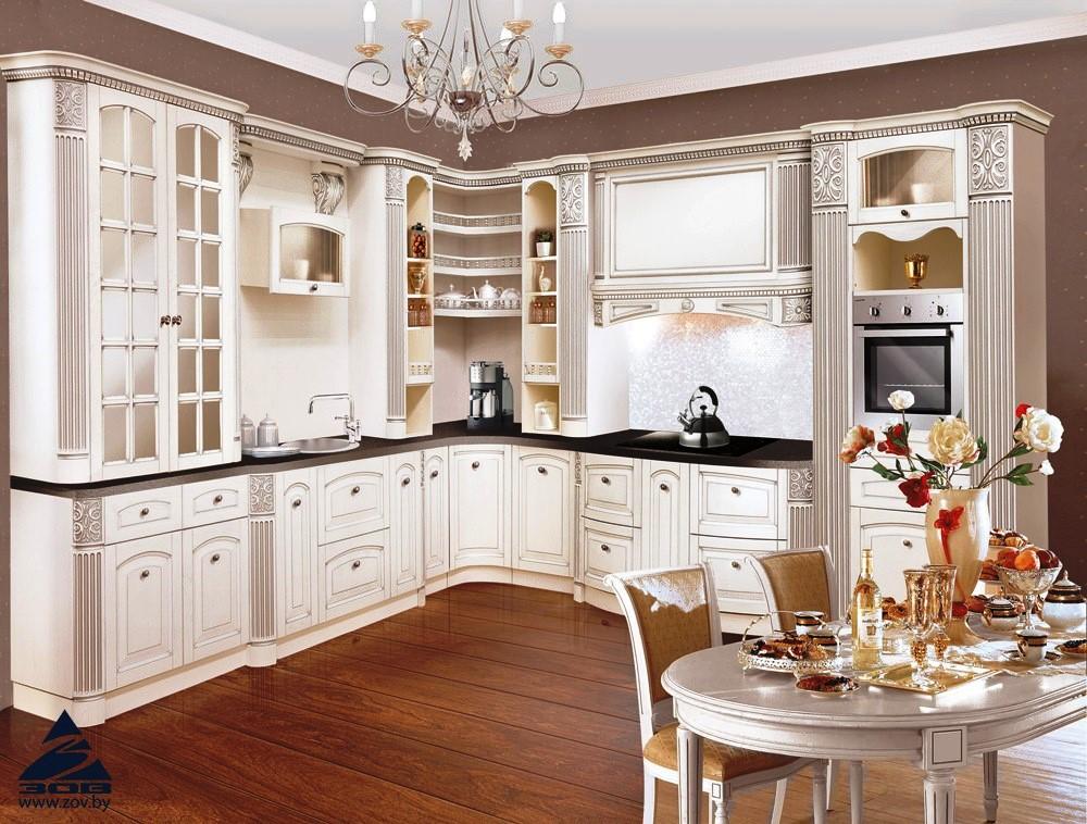 обзор популярных кухонь зов - кухня из массива ясеня