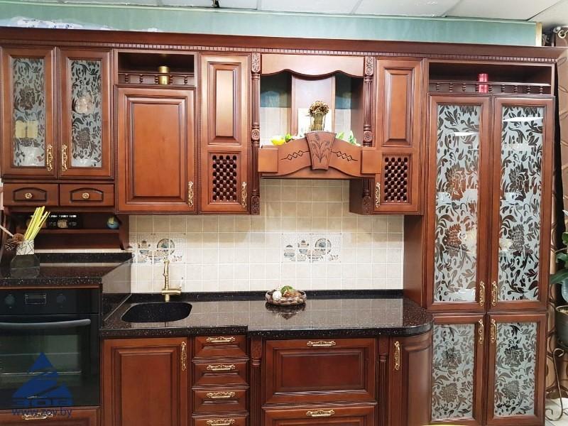обзор популярных кухонь зов - кухня из массива черешни