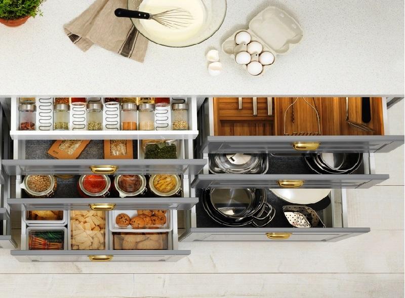 Дизайн кухни: как повысить эффективность использования пространства для хранения?