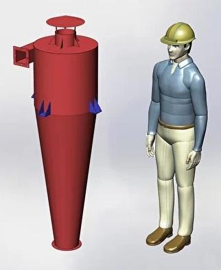 Циклонные пылеуловители применяются для аспирации и очистки воздуха от промышленной пыли и используются во многих отраслях экономики.